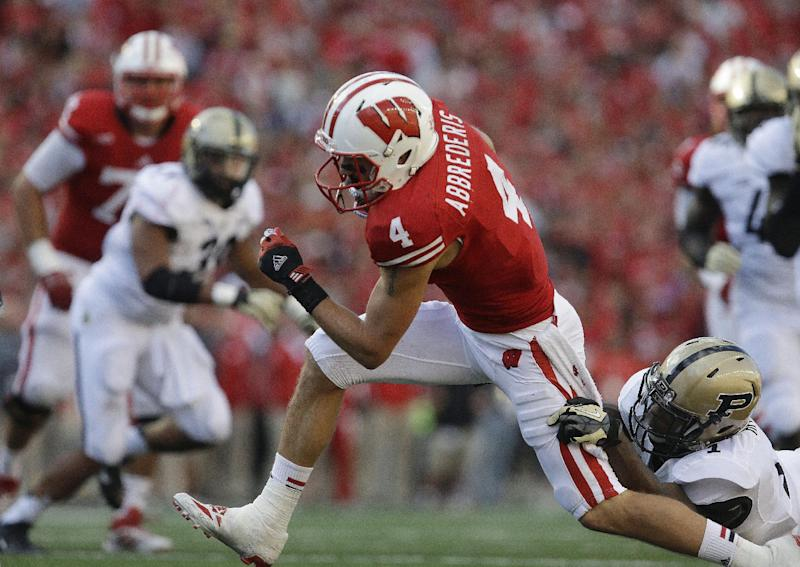 Abbrederis walks off on top for No. 19 Wisconsin