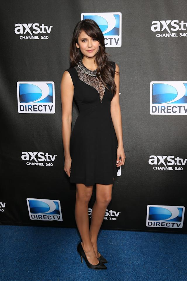 NEW ORLEANS, LA - FEBRUARY 02:  Nina Dobrev attends DIRECTV Super Saturday Night Featuring Special Guest Justin Timberlake & Co-Hosted By Mark Cuban's AXS TV on February 2, 2013 in New Orleans, Louisiana.  (Photo by Neilson Barnard/Getty Images for DirecTV)
