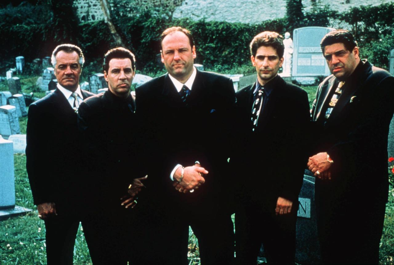 "FILE - This undated publicity image released by HBO shows, from left, Tony Sirico, Steven Van Zandt, James Gandolfini, Michael Imperioli and Vicint Pastore,from the HBO drama series ""The Sopranos."" HBO and the managers for Gandolfini say the actor died Wednesday, June 19, 2013, in Italy. He was 51. (AP Photo/HBO, Anthony Neste, file)"