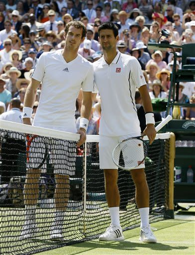 Murray could face Djokovic in Wimbledon semis