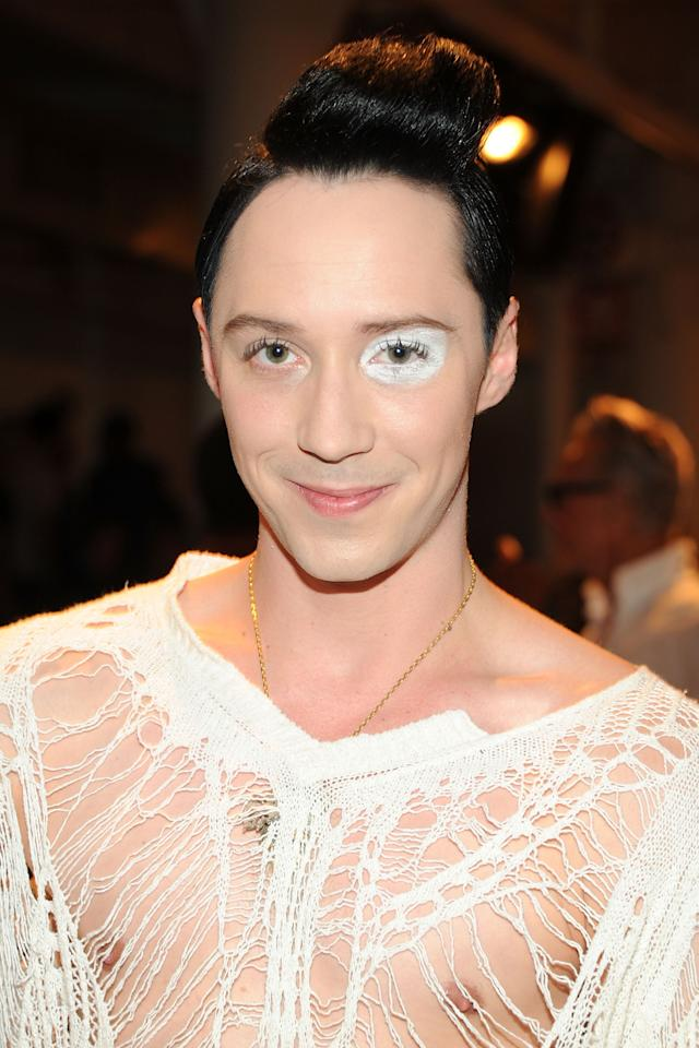 NEW YORK, NY - SEPTEMBER 11: Figure skater Johnny Weir attends The Blonds fashion show during MADE Fashion Week Spring 2014 at Milk Studios on September 11, 2013 in New York City. (Photo by Ben Gabbe/Getty Images)