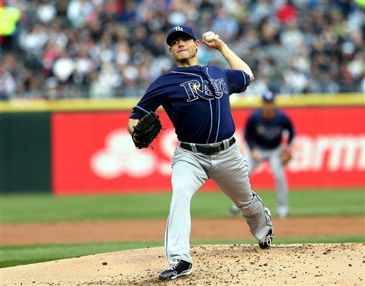Moore wins 5th game as Rays rout White Sox 10-4
