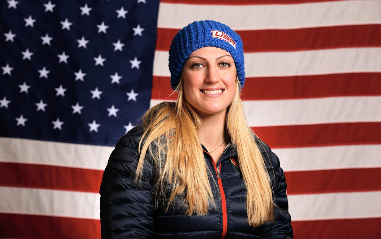 SOCHI, RUSSIA - FEBRUARY 03: (BROADCAST-OUT) Jamie Greubel of the United States Bobsled team poses for a portrait ahead of the Sochi 2014 Winter Olympics on February 3, 2014 in Sochi, Russia. (Photo by Scott Halleran/Getty Images)