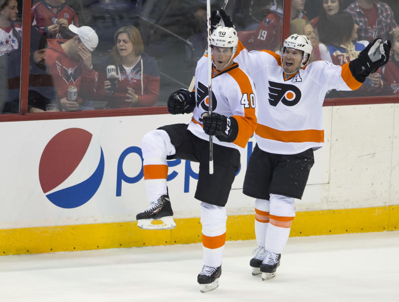 Flyers rally for 5-4 win over Caps in OT