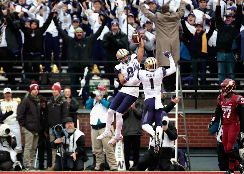 Washington is heading to the Pac-12 championship game. (Getty)