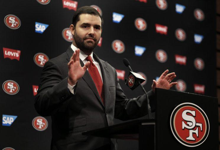 49ers CEO Jed York has a big mess to clean up this offseason as his franchise will be searching for a new general manager and head coach. (AP)