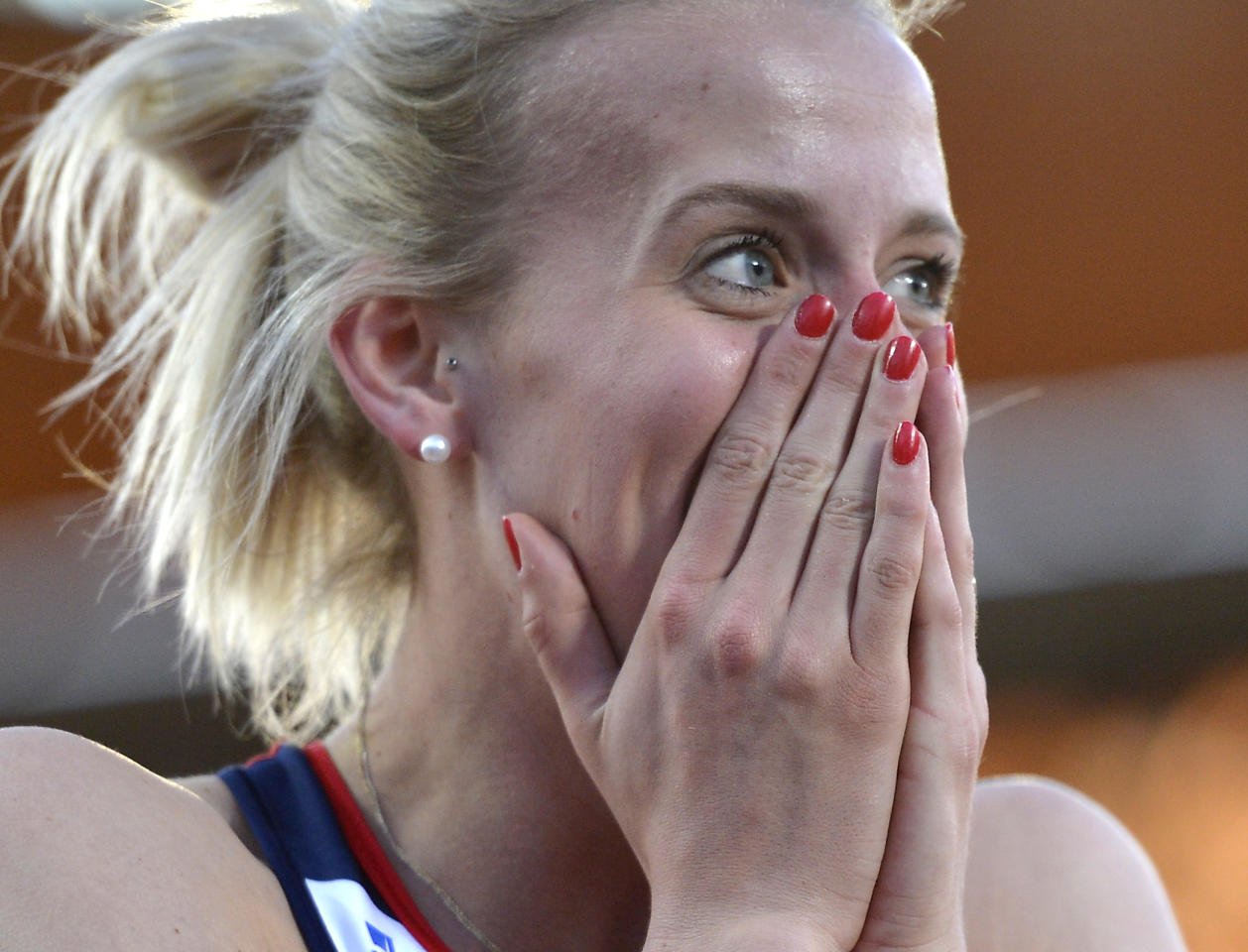 Britain's 800-meter Olympic selection situation was a mess. Trials winner and European silver medalist Lynsey Sharp (pictured) was selected for the London Games despite not having run the 'A' standard time -- which four other British women have done. Furthermore, because Sharp has only run the 'B' standard, no other runner with that time standard can be selected because no 'A' standard runners made the team. (AP Photo/Martin Meissner)