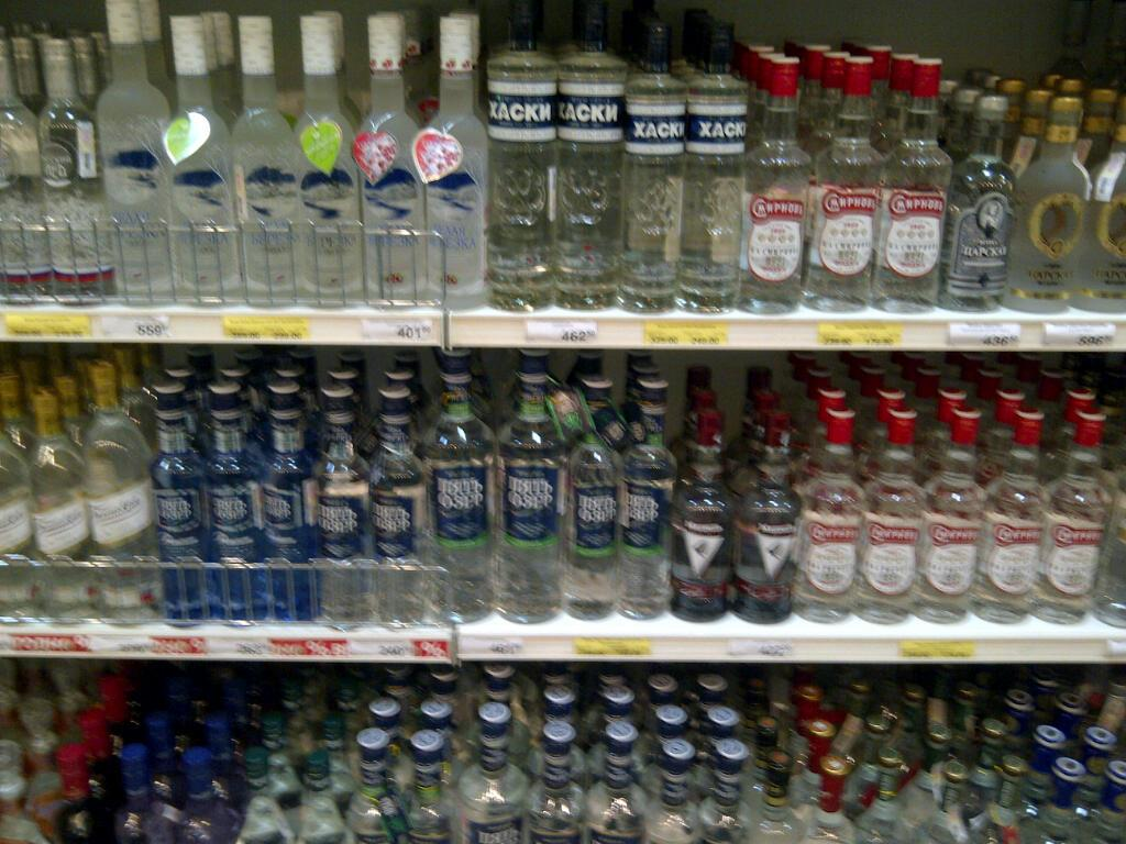 The local supermarkets sell a vast array of different kinds of vodka. In addition to the straight stuff there are also vodkas flavoured with things like chili peppers  and birch bark.  (Sunaya Sapurji)