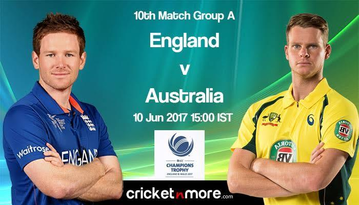ICC Champions trophy : Australia Vs England math preview