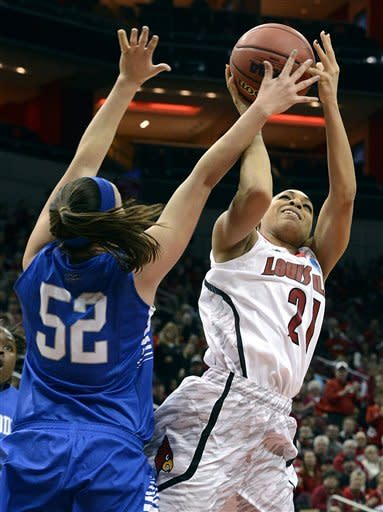 Louisville women beat Middle Tenn 74-49 in NCAA