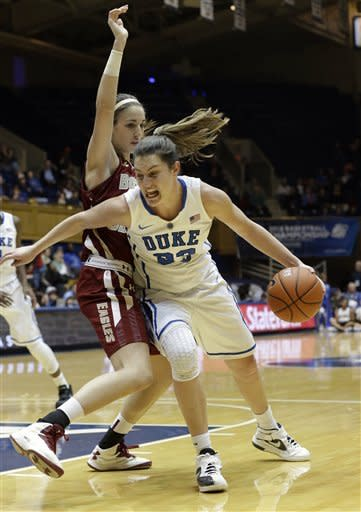 Peters lifts No. 4 Duke women to rout of BC