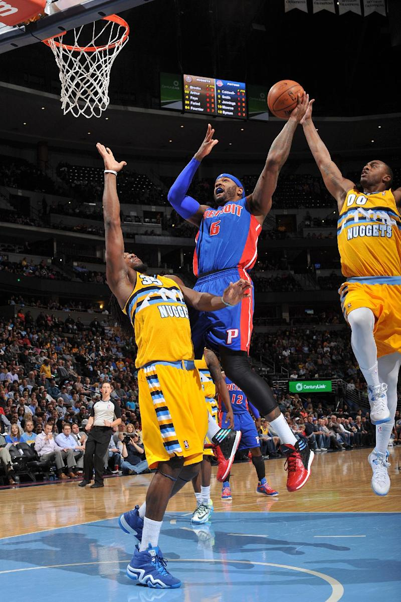 Brooks scores 27 in Nuggets' win over Pistons