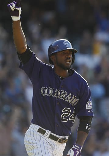 Fowler's hit lifts Rockies over Padres 8-7 in 10