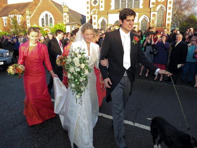 STEWKLEY, UNITED KINGDON - DECEMBER 31:  English international cricketer Alistair Cook gets married on New Year's Eve to Alice Hunt at Stewkley Methodist Church on December 31, 2011 in Stewkley, England.  (Photo by Stephen Munday/Getty Images)