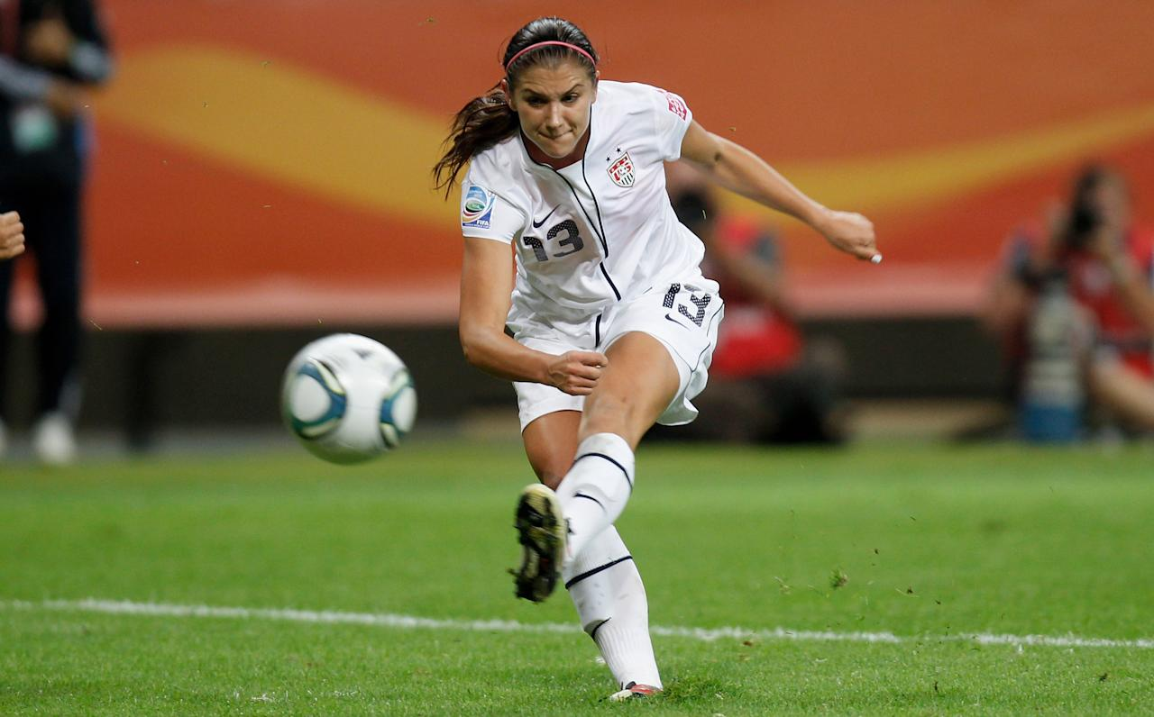 FRANKFURT AM MAIN, GERMANY - JULY 17:  Alex Morgan of USA runs with the ball during the FIFA Women's World Cup Final match between Japan and USA at the FIFA World Cup stadium Frankfurt on July 17, 2011 in Frankfurt am Main, Germany.  (Photo by Friedemann Vogel/Getty Images)