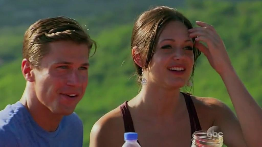 "Drew and Desiree in ABC's ""The Bachelorette."""