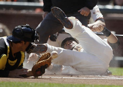 Cain pitches 1-hitter, Giants win home opener