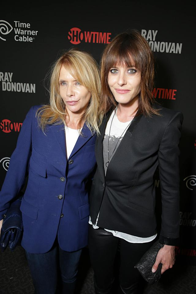 Rosanna Arquette and Katherine Moenning at the Showtime premiere of the new drama series Ray Donovan presented by Time Warner Cable, on Tuesday, June, 25, 2013 in Los Angeles. (Photo by Eric Charbonneau/Invision for Showtime/AP Images)