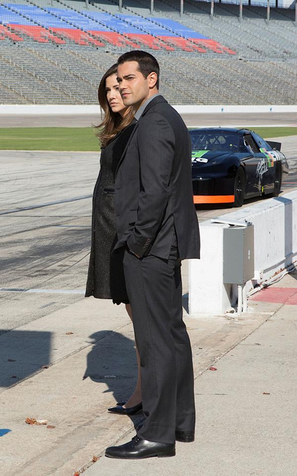 """Julie Gonzalo and Jesse Metcalfe in the """"Dallas"""" Season 2 episode, """"The Furious and the Fast."""""""