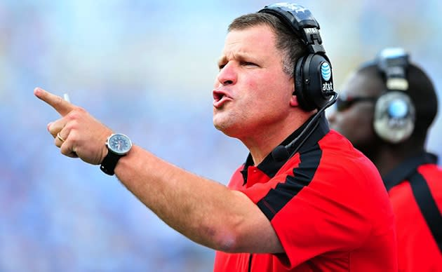 Bucaneers coach Greg Schiano, whose son was suspened for the remainder of his school's regular season — Getty
