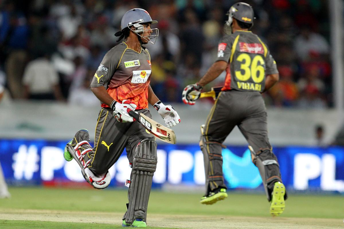 Akshath Reddy takes a run during match 25 of the Pepsi Indian Premier League between The Sunrisers Hyderabad and The Kings XI Punjab held at the Rajiv Gandhi International  Stadium, Hyderabad  on the 19th April 2013Photo by Prashant Bhoot-IPL-SPORTZPICS Use of this image is subject to the terms and conditions as outlined by the BCCI. These terms can be found by following this link:http://www.sportzpics.co.za/image/I0000SoRagM2cIEc