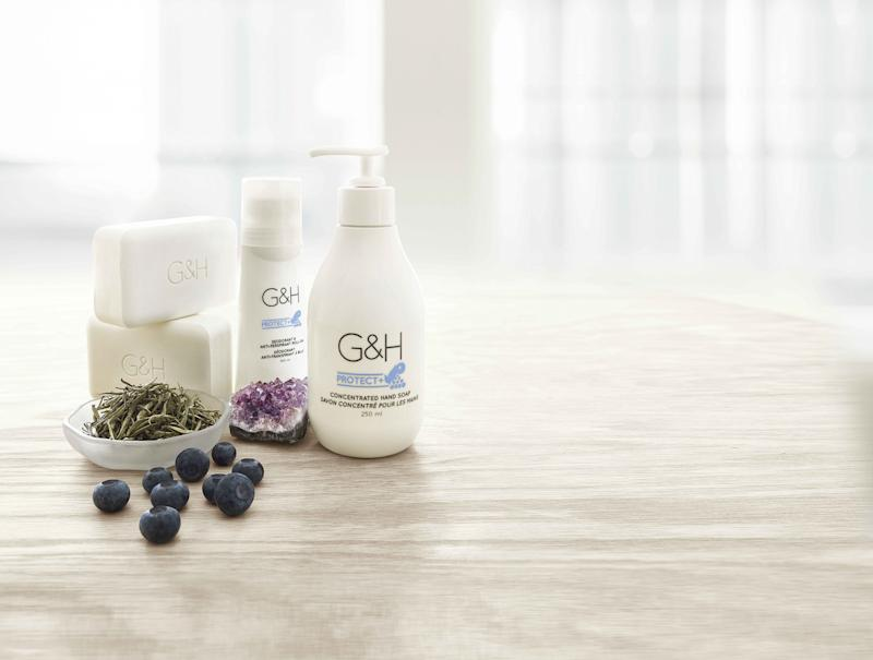 G&H Protect+™ - Deep cleans to remove impurities, and gently protects skin with exclusive, targeted deodorizing technology and a skin-defending botanical blend.