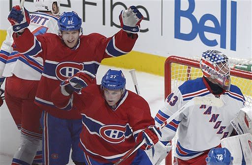 Price and Canadiens shut out Rangers 3-0