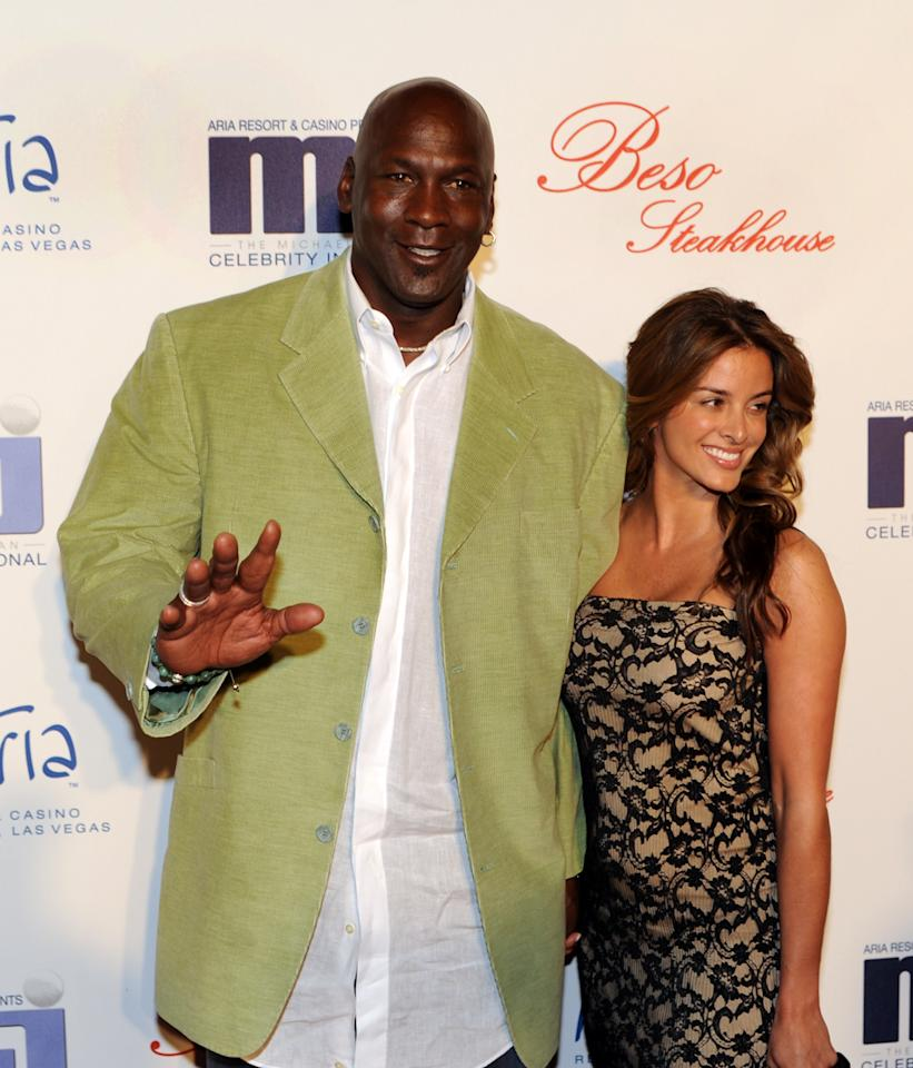 In this photo provided by the Las Vegas News Bureau, basketball great Michael Jordan and his girlfriend Yvette Prieto arrive for a celebrity dinner at Beso inside Crystals in City Center Thursday, March 31, 2011. Celebrities are in Las Vegas for the Michael Jordan Celebrity Invitational golf tournament at Shadow Creek in Las Vegas.