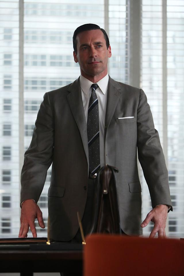 """Don Draper (Jon Hamm) in the """"Mad Men"""" episode, """"A Tale of Two Cities."""""""