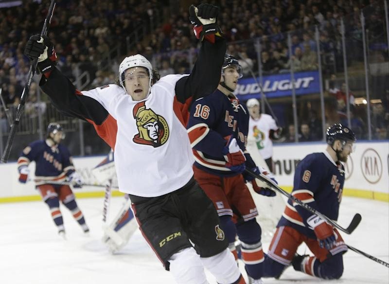 Senators keep Rangers from clinching playoff spot