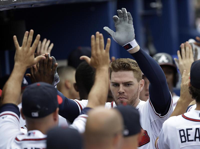 Freeman's HR, 5 RBIs power Braves past Mets 13-5