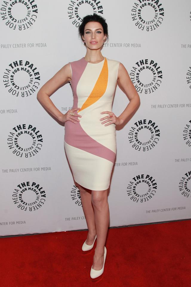 """NEW YORK, NY - APRIL 23:  Actress Jessica Pare attends The Paley Center for Media presentation of """"Mad Men"""" season 5 at The Paley Center for Media on April 23, 2013 in New York City.  (Photo by Taylor Hill/Getty Images)"""