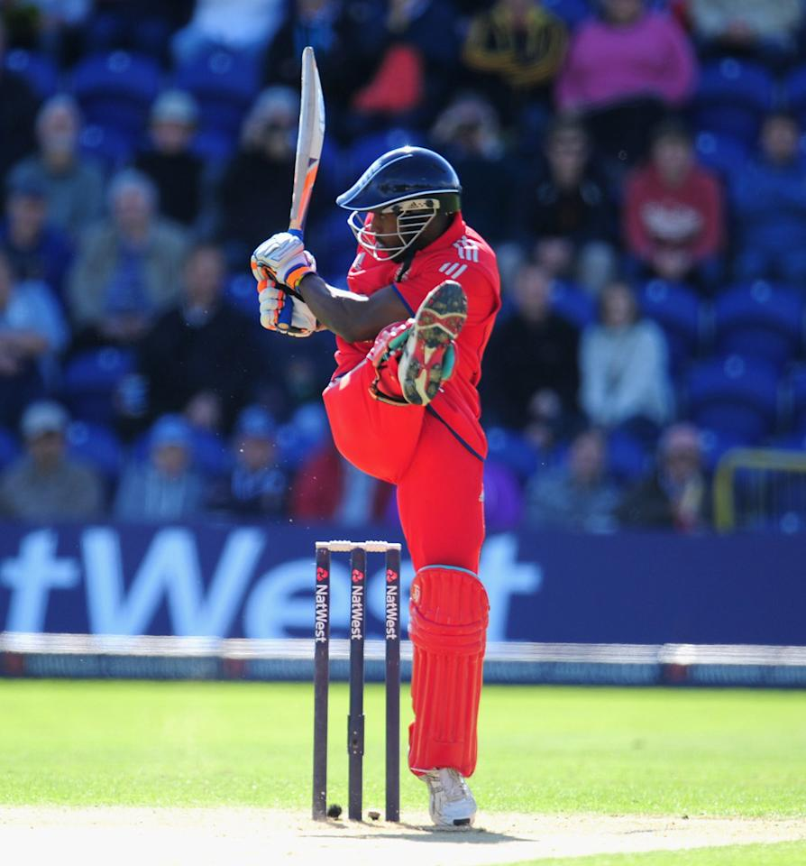 CARDIFF, WALES - SEPTEMBER 14:  England batsman Michael Carberry picks up some runs during the 4th NatWest Series ODI between England and Australia at SWALEC Stadium on September 14, 2013 in Cardiff, Wales.  (Photo by Stu Forster/Getty Images)