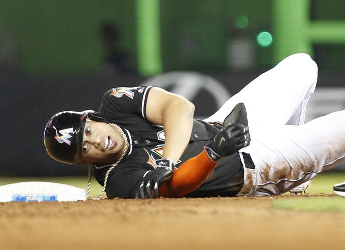 Sliding Marlins lose 6-2 to Phillies
