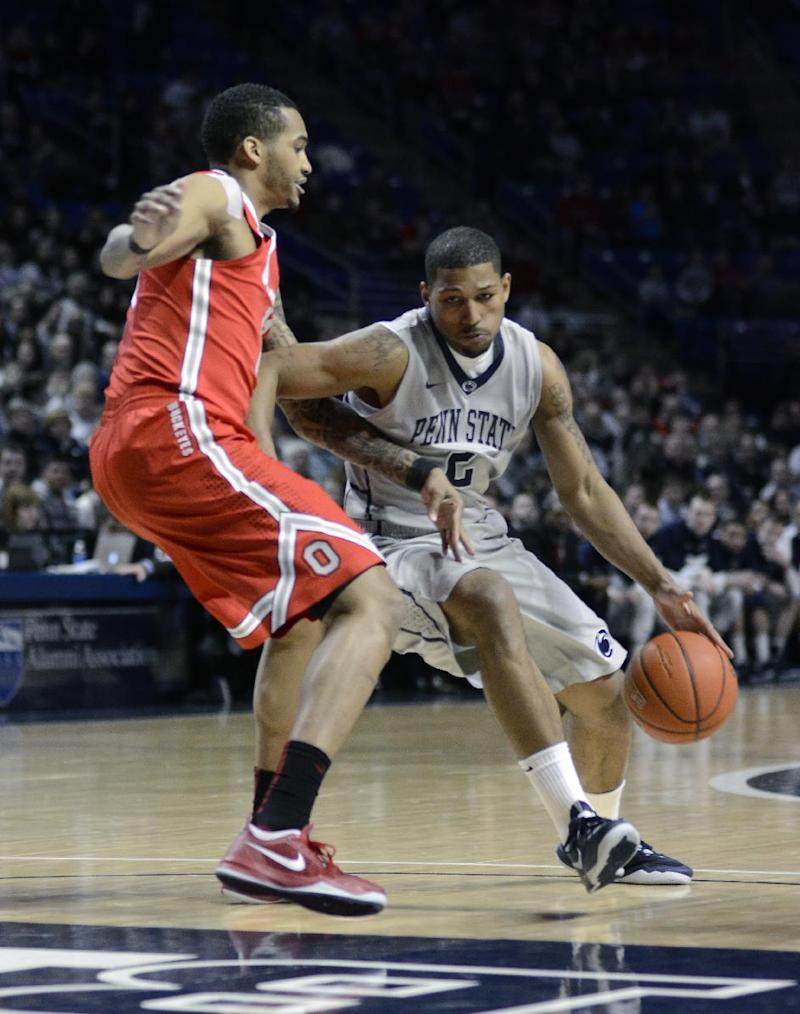 Penn St holds off No. 22 Ohio St 65-63 for sweep