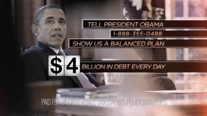 Fiscal cliff ads pick up where campaign stopped