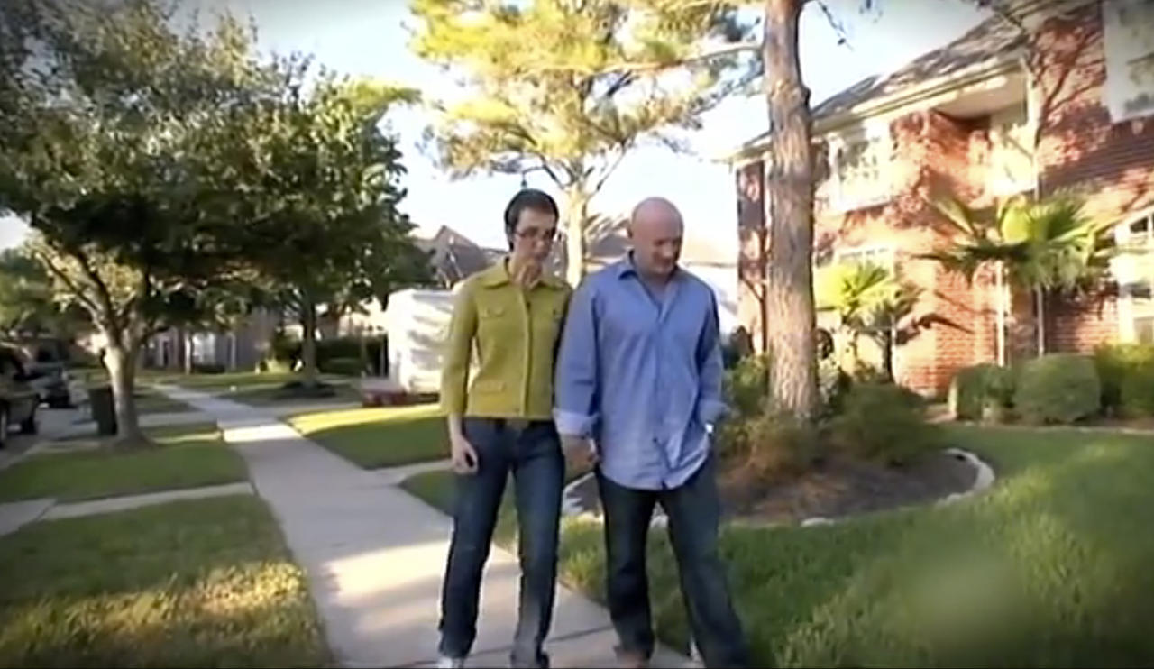 This video image provided by the Office of Rep. Gabrielle Giffords shows Giffords and her husband, Mark Kelly, walking. Giffords announced Sunday, Jan. 22, 2012 she intends to resign from Congress this week to concentrate on recovering from wounds suffered in an assassination attempt a little more than a year ago. (AP Photo/Office of Gabrielle Giffords)