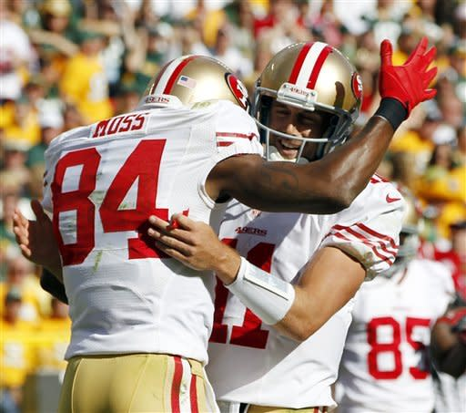 49ers stop Rodgers' rally, beat Packers 30-22