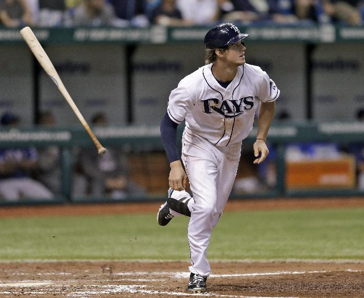Myers homers to lift Rays over Rangers 6-2