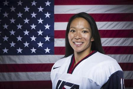 Olympic hockey player Julie Chu poses for a portrait during the 2013 U.S. Olympic Team Media Summit in Park City, Utah