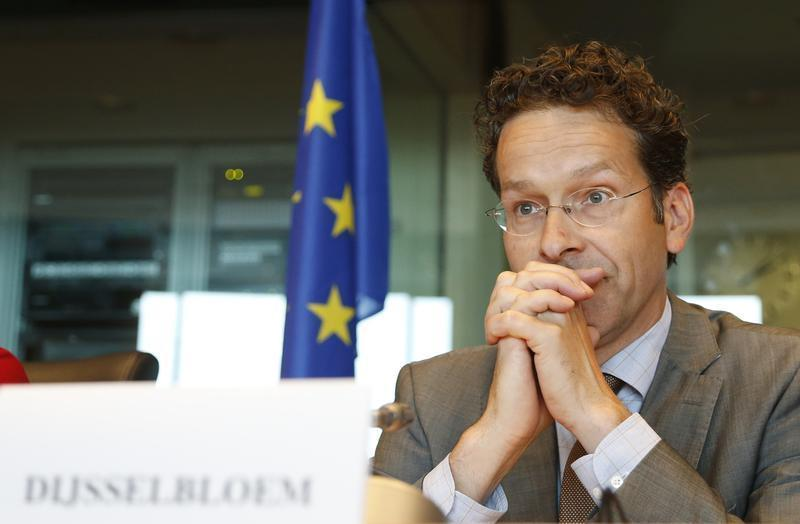 Eurogroup chairman Dijsselbloem waits to address the European Parliament's Economic and Monetary Affairs committee in Brussels