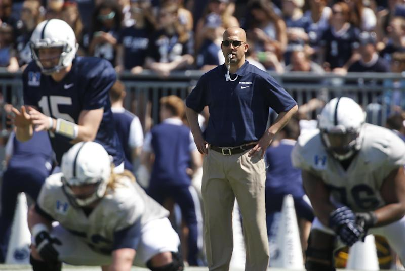 Franklin embraces being face of Penn St post-JoePa
