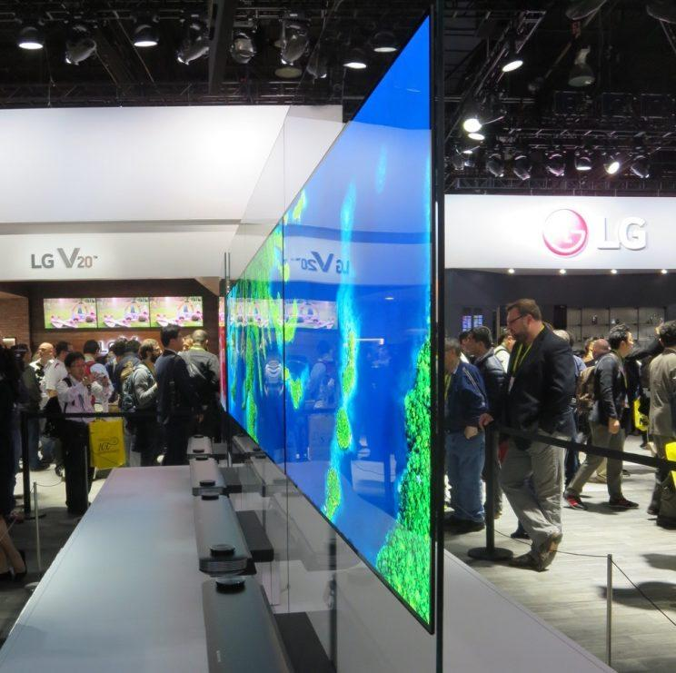 LG's TV W super-thin TV.