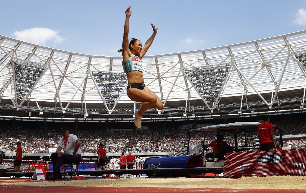 Britain Athletics - 2016 London Anniversary Games - Queen Elizabeth Olympic Park, Stratford, London - 23/7/16 Great Britain's Jessica Ennis Hill in action during the long jump Reuters / Eddie Keogh Livepic