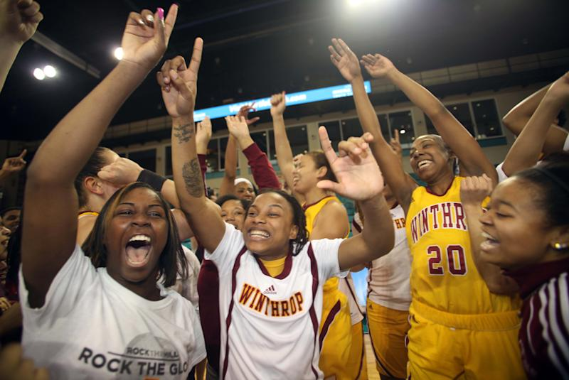McClanahan leads Winthrop to title with 87-74 win