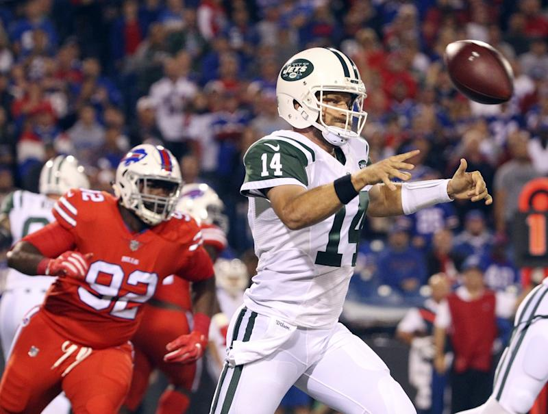 Ryan Fitzpatrick pitched a gem against a Buffalo Bills team that had his number in 2015 (AP).