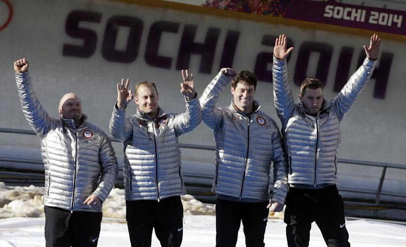 Fogt gets 1st Olympic medal of US bobsled career