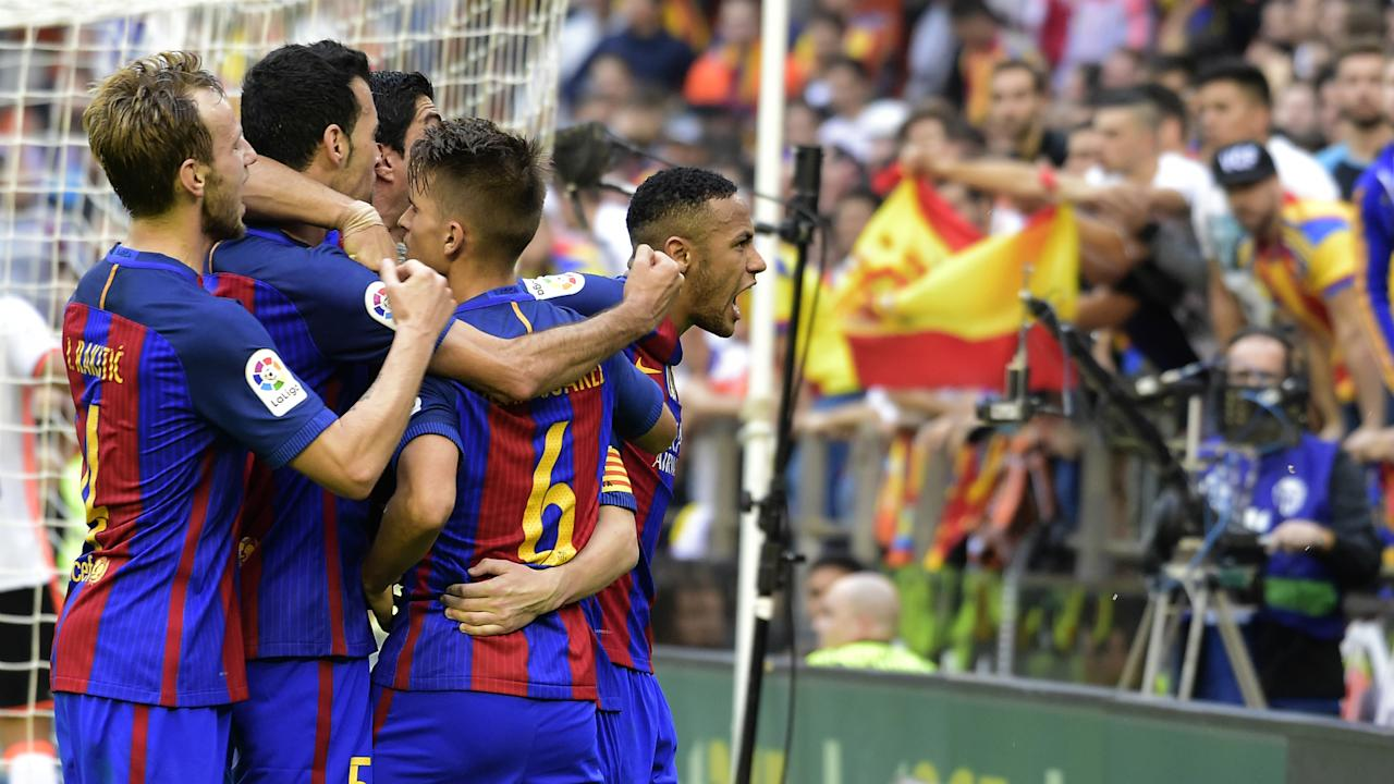 Dani Parejo has hit out at Neymar over his behaviour in the wake of Barcelona's winner against Valencia at Mestalla.