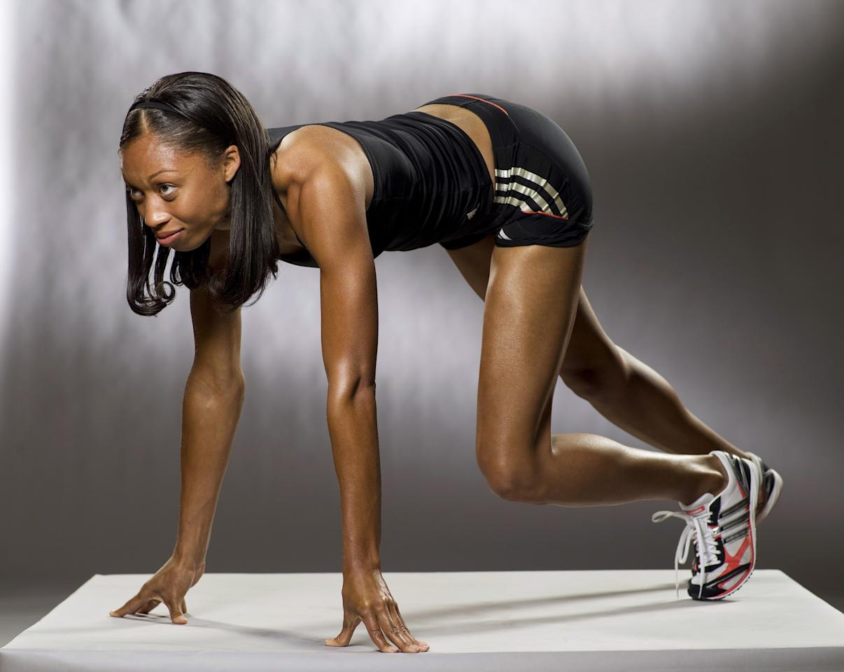 2008 SUMMER OLYMPICS -- Pictured: Track & Field Olympian Allyson Felix -- Photo by: Mitchell Haaseth/NBCU Photo Bank