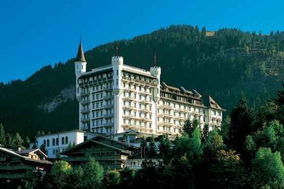 The Gstaad Palace, Switzerland -  Built in 1913, the glorious Gstaad Palace has 104 beautifully furnished rooms, including 19 Junior Suites and a splendid three-bedroom Penthouse Suite, which comprises a dining room, living room, kitchen, a terrace as well as a private sauna and Jacuzzi.